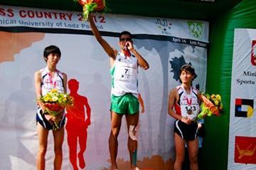 Abdelmajed Touil (Algeria) a top the podium in Lodz (FISU)