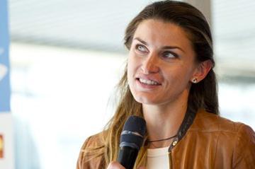 Olympic High Jump champion Anna Chicherova in Stockholm (Deca Text & Bild)