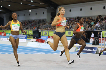 Dafne Schippers wins the 60m at the Indoor Meeting Karlsruhe (Jean-Pierre Durand)