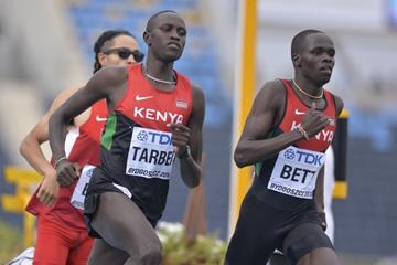Willy Tarbei and Kipyegon Bett in the 800m at the IAAF World U20 Championships Bydgoszcz 2016 (Getty Images)