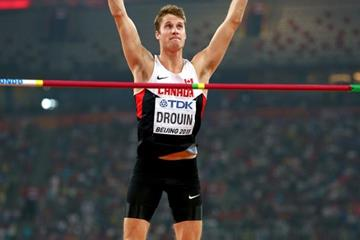 Derek Drouin in the high jump at the IAAF World Championships, Beijing 2015 (Getty Images)