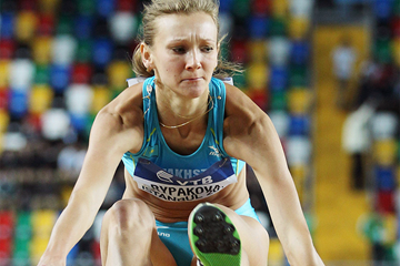 Olga Rypakova in the triple jump at the IAAF World Indoor Championships (Getty Images)