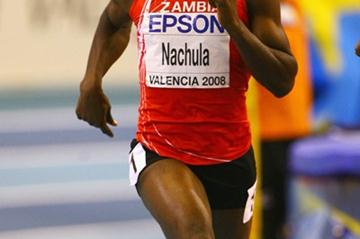 Racheal Nachula competing at the World Indoor Championships in Valencia (Getty Images)