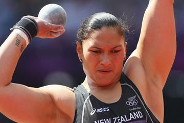 Valerie Adams of New Zealand competes in the Women's Shot Put qualification on Day 10 of the London 2012 Olympic Games at the Olympic Stadium on August 6, 2012 (Getty Images)
