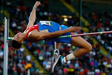 Mikhail Akimenko at the IAAF World Junior Championships, Oregon 2014 (Getty Images)