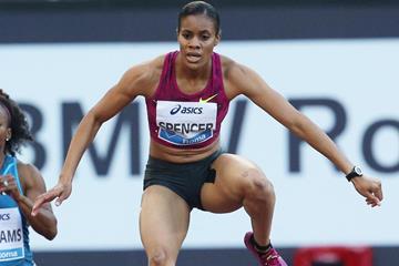 Kaliese Spencer, winner of the 400m hurdles at the IAAF Diamond League meeting in Rome (Gladys Chai von der Laage)