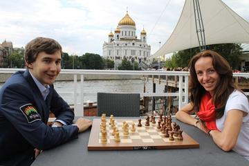 world champion in speed chess Sergey Karyakin and Mariya Savinova (Vladimir Barskiy for Spikes magazine)