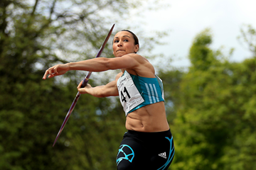 Jessica Ennis-Hill in action in the javelin (Getty Images)