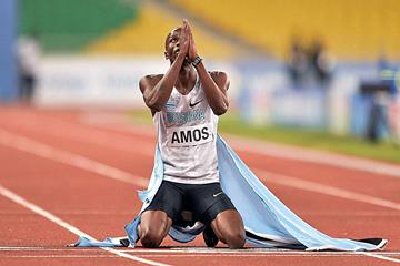 Nijel Amos after winning the 800m at the 2015 Africa Games in Brazzaville (Getty Images / AFP)