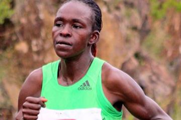 Joyce Jepkirui en route to victory at the Baringo Half Marathon (David Macharia)