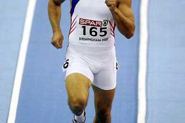 Roman Sebrle running in the 1000m in Birmingham (Getty Images)