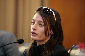 Sandra Arenas at the Taicang 2014 press conference (Getty Images)