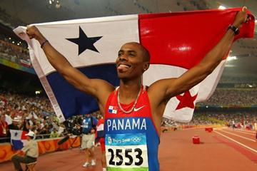 Long jumper Irving Saladino becomes Panama's first Olympic athletics champion (Getty Images)