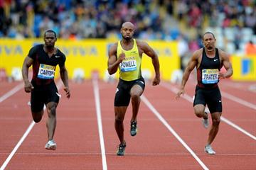 Asafa Powell cruises to an easy win at the Aviva Birmingham Grand Prix – Samsung Diamond League  (Mark Shearman)