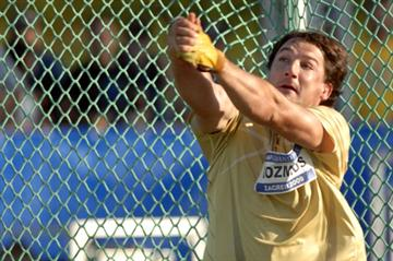 Primoz Kozmus reaches a world-leading 81.77m in Zagreb (Zagreb organisers)