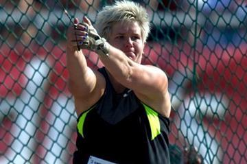 Anita Wlodrczyk spinning to victory in Warsaw (Adam Nurkiewicz - Mediasport)