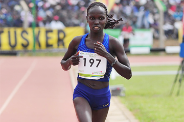 Vivian Cheruiyot at the 2016 Kenyan Olympic Trials (Getty Images / AFP)