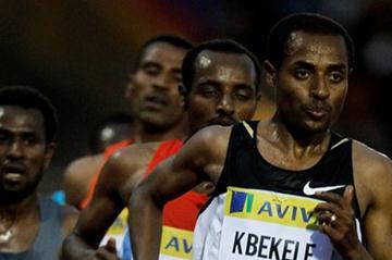 Kenenisa Bekele leads in Birmingham (Getty Images)