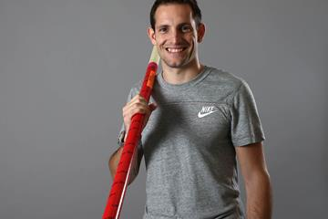 Renaud Lavillenie ahead of the 2014 World Athletics Gala (Giancarlo Colombo / IAAF)