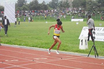 Mantegbosh Melese sets a PB of 2:02.21 to win the Ethiopian 800m title (Bizuayehu Wagaw)