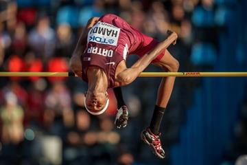 Mohamat Allamine Hamdi in the high jump at the IAAF World U20 Championships Bydgoszcz 2016 (Getty Images)