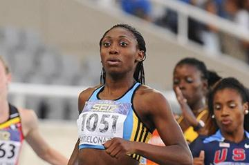 Anthonique Strachan of Bahamas wins the Women's 200 metres Final on the day four of the 14th IAAF World Junior Championships in Barcelona on 13 July 2012 (Getty Images)