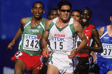 Ali Saidi-Sief in the 5000m at the 2001 IAAF World Championships (Getty Images)