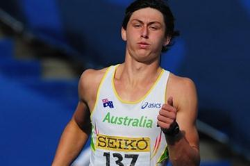 Jake Stein on the way to the 2011 World Youth Octathlon title (Getty Images)