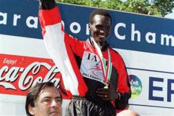Paul Tergat, World Half Marathon Champion (© Allsport)
