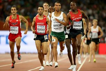 Elijah Manangoi in the 1500m semi-finals at the IAAF World Championships, Beijing 2015 (Getty Images)