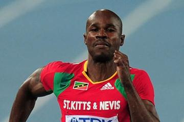 Kim Collins of Saint Kitts and Nevis - men's 100 metres heats, Daegu (Getty Images)