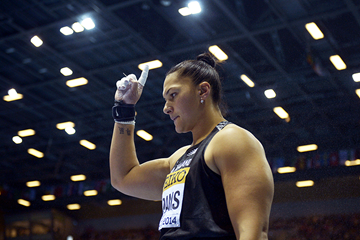 Valerie Adams in the shot put at the IAAF World Indoor Championships Sopot 2014 (Getty Images)