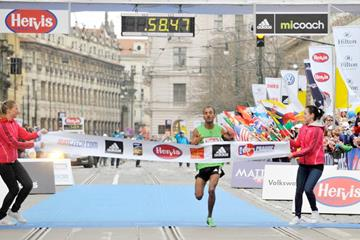 Atsedu Tsegay wins the 2012 Hervis Prague Half Marathon  (Organisers)