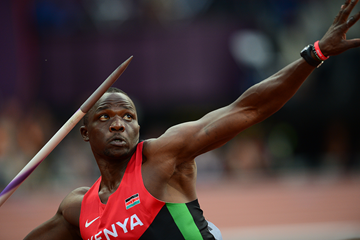 Julius Yego in the javelin at the London 2012 Olympic Games (AFP / Getty Images)