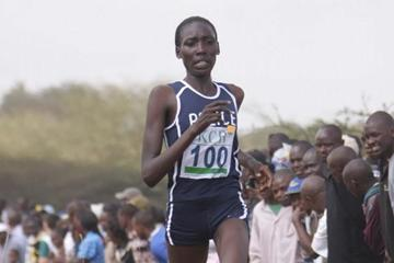 Linet Masai en route to victory at the Kenyan World XC trials in Nairobi (Stafford Ondego (The Standard))