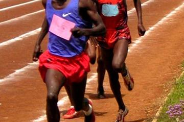 Ezekiel Kemboi leads in the 1500m race during the North Rift provincial championships (David Macharia)