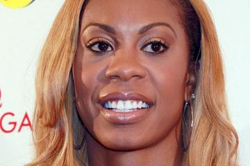 Sanya Richards-Ross at the press conference ahead of the 2013 New York Diamond League (Victah Sailer)
