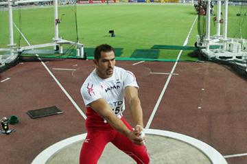 Koji Murofushi of Japan competes in the Men's Hammer Throw Final (Getty Images)
