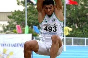Hussein Al-Sabee wins the Asian Long Jump title in Manila (IAAF Correspondent)