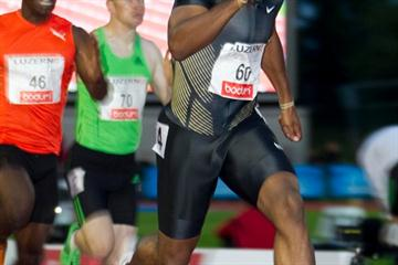 Walter Dix en route to a 20.02 meeting record in Luzern (Organisers)