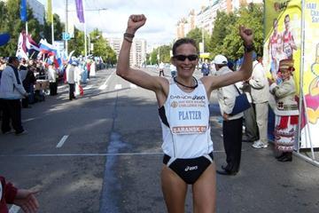 Kjersti Plätzer finishes in third place in Saransk (Stephan Plätzer)