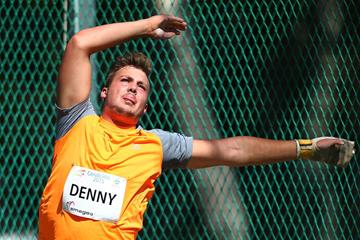 Australian thrower Matt Denny in action in the hammer (Getty Images)