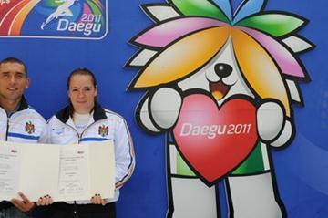 Ion Luchianov and Zalina Marghieva, 2011 Moldovan athletes of the year (Serghei Donets)