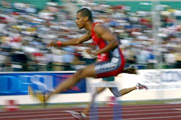 Felix Sanchez wins the Pan Am Games in Santo Domingo (Getty Images)