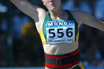 Justine Robbeson of South Africa competing in the Women's Heptathlon Javelin (Getty Images)