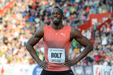 Usain Bolt after winning the 100m in Ostrava (AFP / Getty Images)