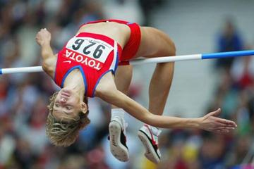 Marina Kuptsova of Russia wins silver in the high jump final (Getty Images)