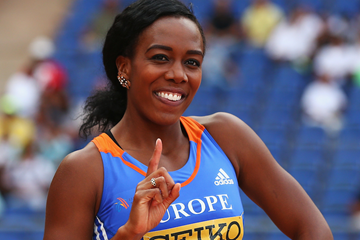 Tiffany Porter after setting a British 100m hurdles record of 12.51 at the IAAF Continental Cup (Getty Images)