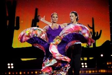 Nataliya Dobrynska on the Ukrainian television programme, 'Dancing for You' (courtesy of press service for Channel 1plus1)