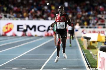 Kumari Taki winning the boys' 1500m at the IAAF World Youth Championships, Cali 2015 (Getty Images)